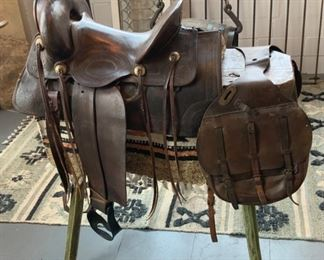 Wells Fargo Saddle - $2,600 US Leather Saddle Bag - $350 Saddle Stand - $300 Saddle Blanket Included with Saddle