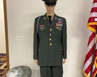U.S. military uniform 175.00                                        mannequin not included