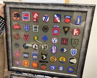 framed patches wwII ARMY Air Force 42 TOTAL 250.00