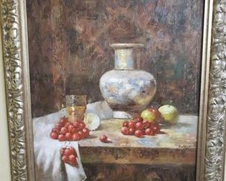 6) Signed H. Jacob Oil Painting -31x27 Framed-$250