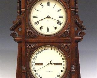 Seth Thomas No. 9 Parlor Calendar Clock
