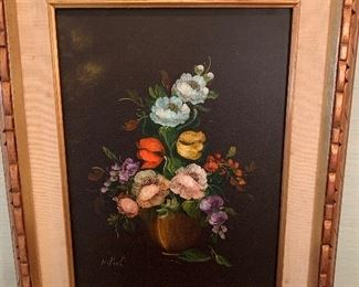 $120 - Flowers by A. Paoh - 16X20