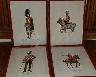 #312         10 x13 british officer prints   $20