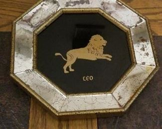 #309 8.25 inch diameter vintage leo sign  $15