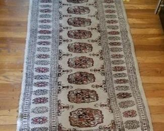 #206 Persian runner hand knotted 98x 31   $100