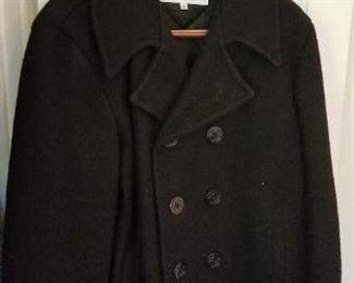#188 wool peacoat size 42  $15