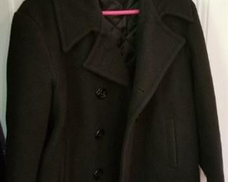 #180 wool peacoat size 38   $15