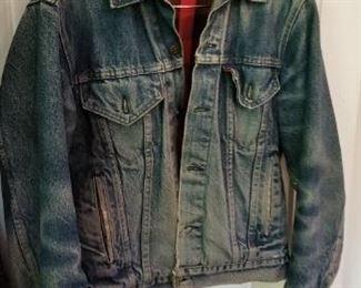 #174 Levi jean jacket size Small  $15