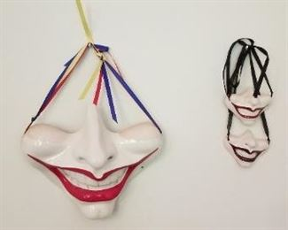 #140 c. cohen porcelain mask 8x 7, 3x 2.5 3 pieces total  $10
