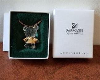 #121A  swarovski crystal bear 1 inch   $20