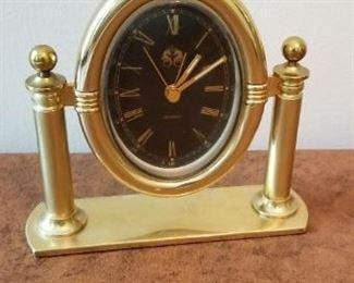 #106 brass clock 6x6  $5