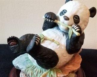 #91 precious panda figurine 6 inches tall $5