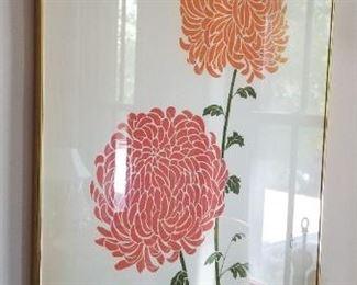 #53   flower  print signed P. Chu 40X 26