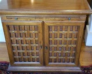 #37 wood side cabinet. $10