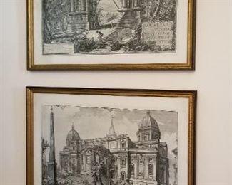 #2 prints pair  20.25  x14.5   $15