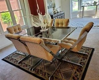 very nice mid century chrome table and chairs