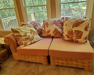 great heavy rattan sectional sofa