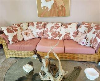 Rattan sectional sofa
