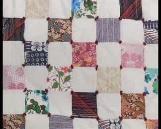 Patchwork quilt. Full size.