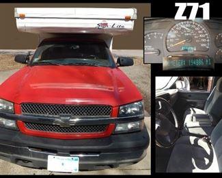 2003 Chevrolet Truck w/ Sunlite Popup Camper.