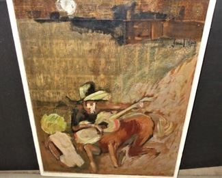"L3  ""Singing Cowboy Centaur with naked woman""; mixed media  $ 90."