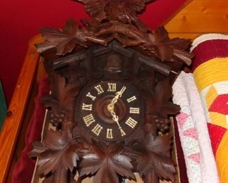 L6 Vintage cookoo clock (weights & pendulum currently disassembled)  $75.
