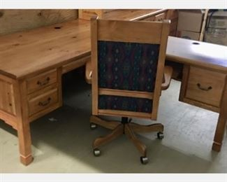 Desk and matching desk chair.