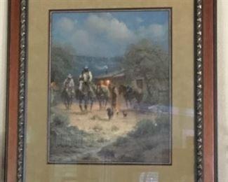 Ranger Outpost By G Harvey print signed