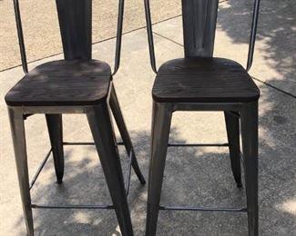 Metal/wood barstools