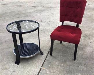 Art Nouveau table w/side chair