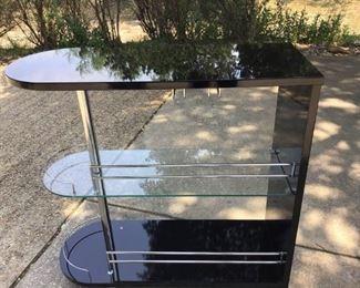 Black/chrome/glass bar