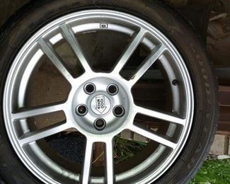 (4) Goodyear Eagle F1 tires - 225/45zr17 on Migla 1000 wheels - $600