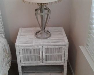 Nightstand and lamp included in set