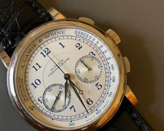 """Limited """"Boutique Edition"""" 1815 Flyback Chronograph in 18K white gold.  Find the FULL LISTING, Prices and MAKE AN OFFER, on our website, www.huntestatesales.com"""