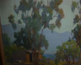 Listed 1920's California Plein Air oil painting by Llias Waddell