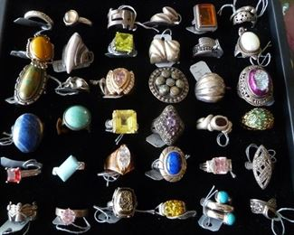 CURRENT SELECTION  STERLING RINGS @ 50% OFF.