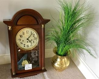 Excellent working Howard Miller triple chime wall Clock.