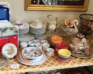Quality selection of fine China and Modern Contemporary dishes.