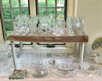 Large group of Crystal ware.