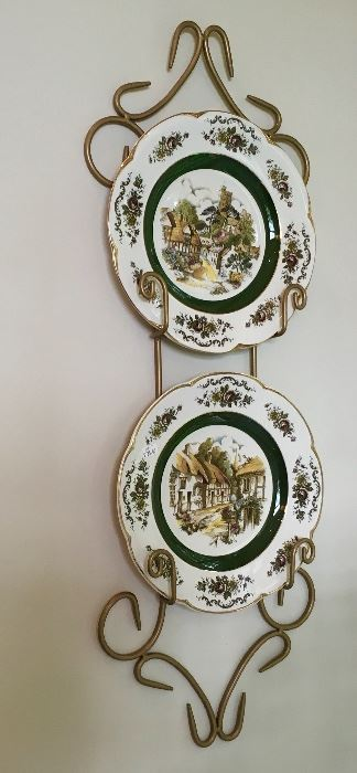 Wall decor plates and holder.