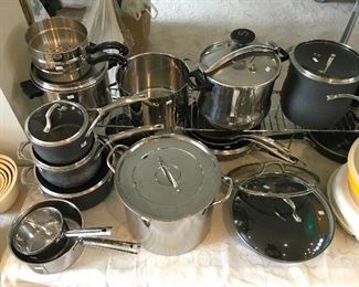 Caphalon and Stainless cookware.