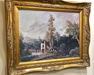 Vintage Gold Gilt Oil Painting
