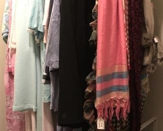 Scarfs and more Ladies clothing items.