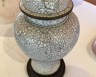 "#14   11 1/2"" Indian temple jar with stand  $49"