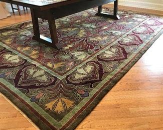 """Guildcraft Carpets CFA Voysey Rug - 120"""" x 172"""" $3375 (orig. $4500)"""