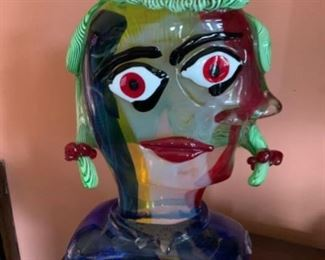 Walter Furlan  Picasso Murano sculpture comes with authentication papers