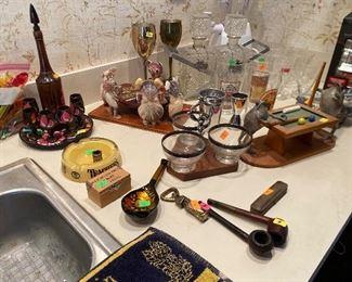 Lots of bar ware and English items
