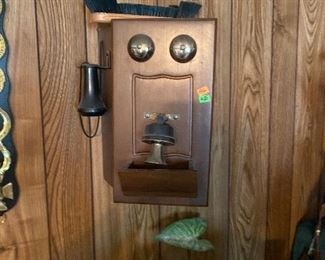 Old phone cabinet