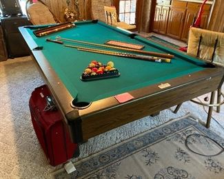 Brunswick Anniversary 130 Pool Table with accessories