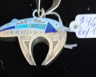 $95.00 - Native American Pendant by Ray Tracey.